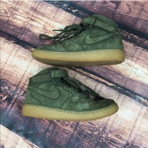 Nike Kids Air Force 1 Boys Green Shoes